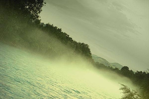 spooky river fog