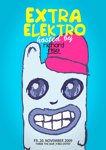 Extra Elektro Club Three the Bar Steyr Richard Rise Electro Electronic Music Krocher Hase